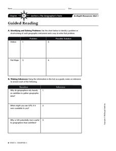 The Geographer's Tools Worksheet