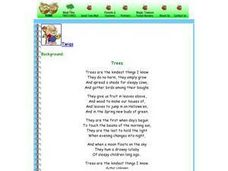 The Gifts of Trees Lesson Plan