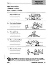 The Gingerbread Man: Verbs Worksheet