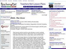 The Giver (Middle, Literature) Lesson Plan