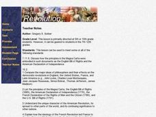 The Glorious Revolution,  the American Revolution, and the French Revolution Lesson Plan