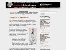 The goal of education Lesson Plan