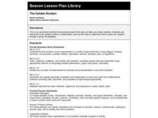 The Golden Students Lesson Plan