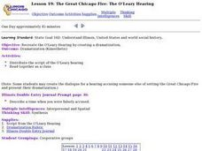 The Great Chicago Fire:  The O'Leary Hearing Lesson Plan