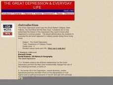 The Great Depression and Everyday Life Lesson Plan