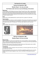 The Great Fire of London Worksheet