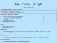 The Greedy Triangle - Group Activity Lesson Plan