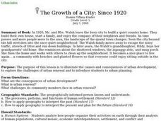 The Growth of a City: Since 1920 Lesson Plan