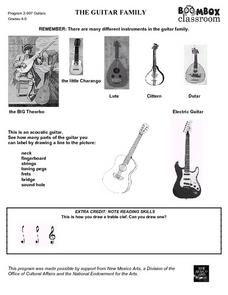 The Guitar Family Worksheet