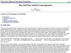 The Gulf War and its Consequences Lesson Plan