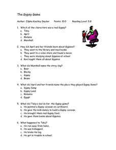 The Gypsy Game Lesson Plan