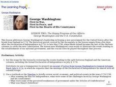 The Happy Progress of Our Affairs: George Washington and the U.S. Constitution Lesson Plan