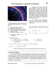 The Heliopause...a question of balance! Worksheet