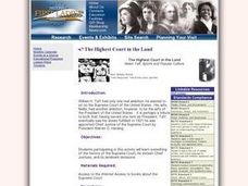 The Highest Court in the Land Lesson Plan