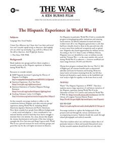 The Hispanic Experience in World War II Lesson Plan