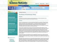 The History of Evolutionary Theory Lesson Plan