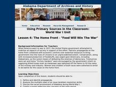 "The Home Front - ""Food Will Win The War"" Lesson Plan"