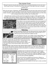 The Home Front Worksheet