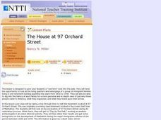 The House at 97 Orchard Street Lesson Plan