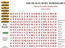 The Human Body Word Search Worksheet