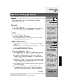 The Hunt for Capital Letters Lesson Plan