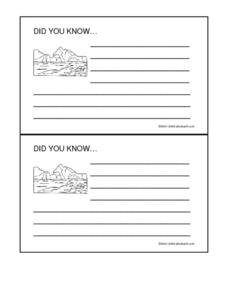 The Ice Age Did You- Know Fact Cards Worksheet