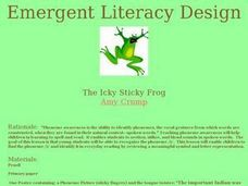 The Icky Sticky Frog Lesson Plan
