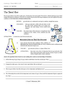 The Ideal Gas Worksheet