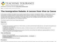 The Immigration Debate: A Lesson from Viva La Causa Lesson Plan