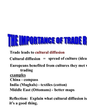 The Importance of Trade Routes Lesson Plan
