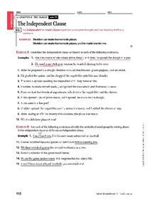 Subordinate Clause Worksheet. Writing Sentences With Subordinate ...