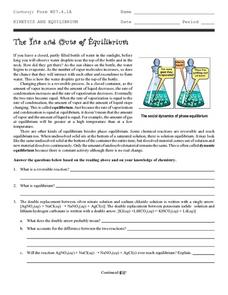 The Ins and Outs of Equilibrium Worksheet