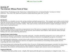The Internet: Whose Point of View Lesson Plan