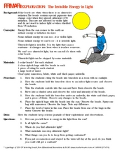 The Invisible Energy in Light Lesson Plan