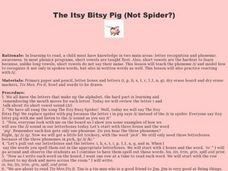 The Itsy Bitsy Pig Lesson Plan