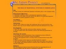 The Japan Project Lesson Plan