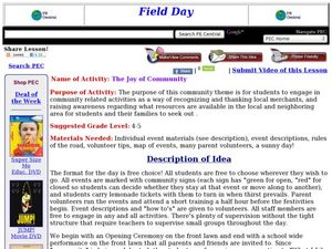 The Joy of Community Field Day Lesson Plan