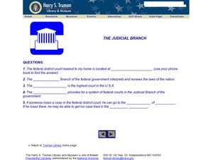 The Judicial Branch Worksheet