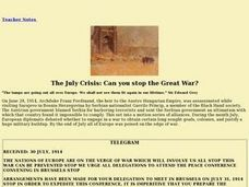 The July Crisis: Can You Stop the Great War? Lesson Plan