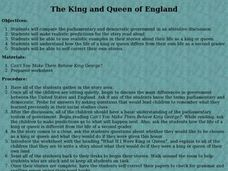 THE KING AND QUEEN OF ENGLAND Lesson Plan