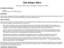 The King's Slice Lesson Plan