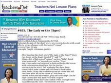 The Lady or the Tiger? (all, Literature) Lesson Plan