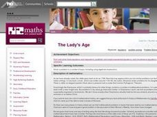 The Lady's Age Lesson Plan