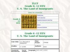 The Land of Immigrants Lesson Plan