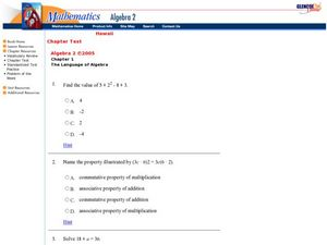 The Language of Algebra Worksheet
