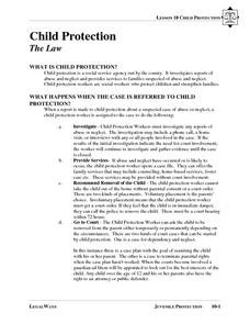 The Law: Child Protection Lesson Plan