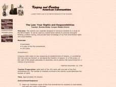 The Law: Your Rights and Responsibilities Lesson Plan