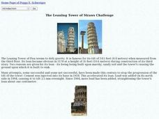 The Learning Tower of Straws Challenge Lesson Plan