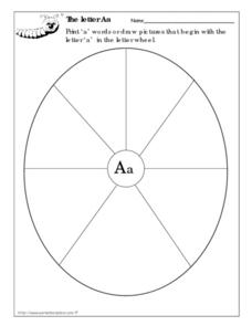 The Letter Aa Wheel Worksheet