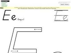 The Letter E (Long E) Worksheet